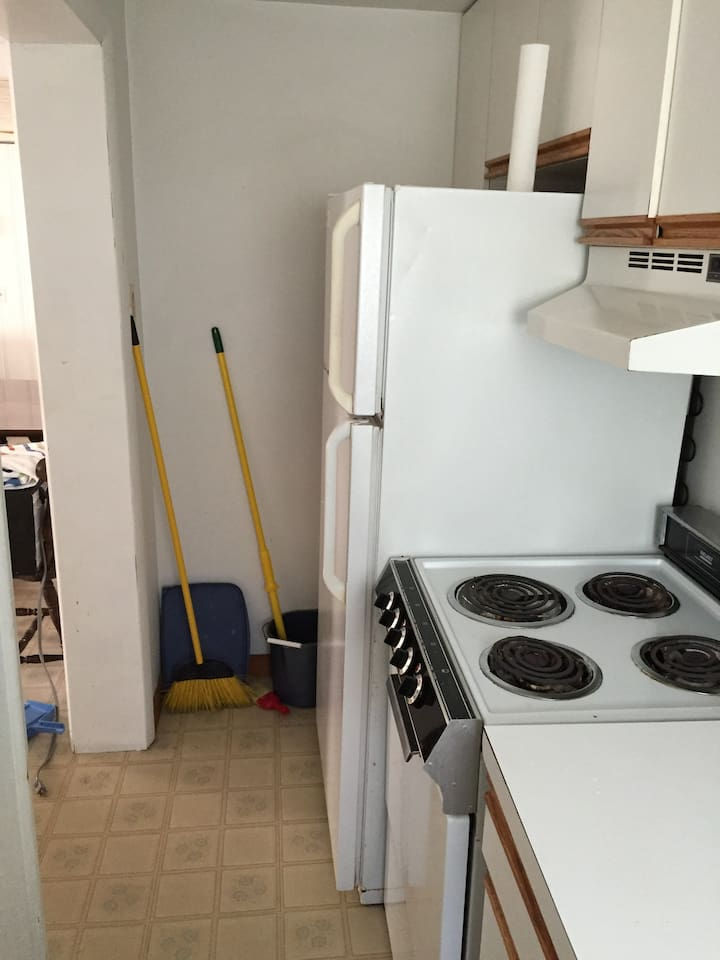 Small kitchen, but gets the job done!