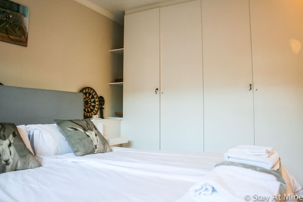 Spacious wardrope in the bedroom