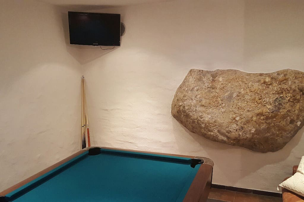 pooltable with a bar