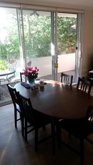 Big dining table for the whole family and more