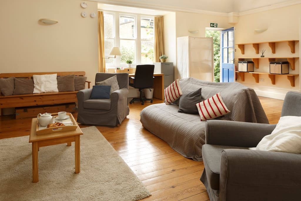 Sofa, armchairs and bench- plenty of sitting space for the evening watching films with family or friends (wide range of DVDs provided).