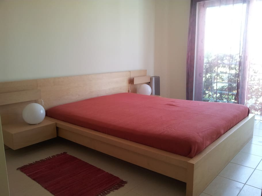 On the first floor, the double bed room.