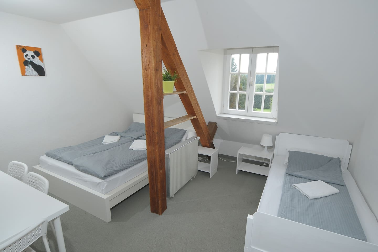 205 - double bed and single bed (can be removed, if only 1-2 persons), with a great view to the south