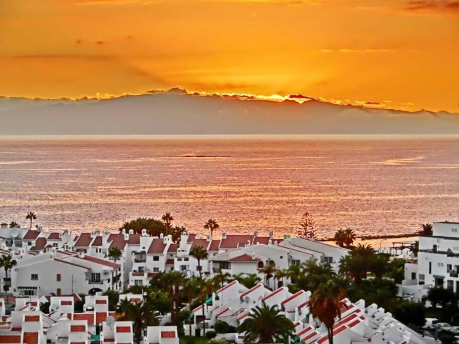 sun set from terrace
