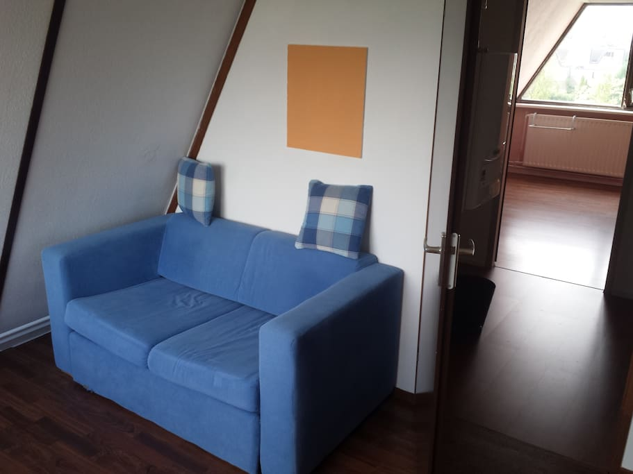 Pull out sofa bed sleeps two comfortably