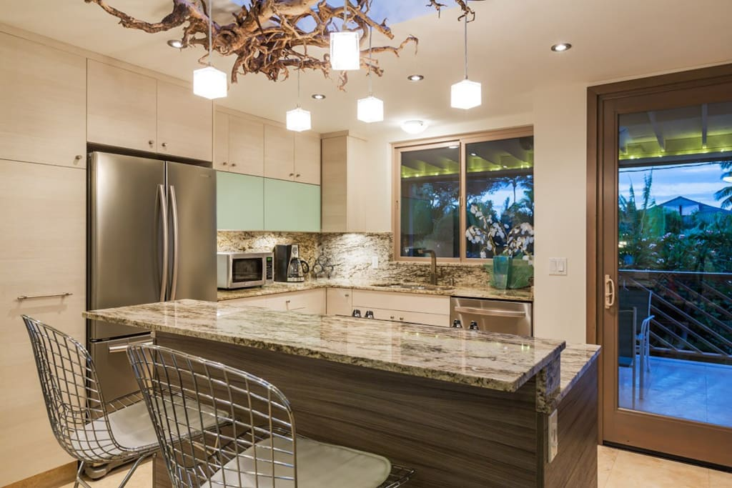 Full Kitchen with partial ocean view!