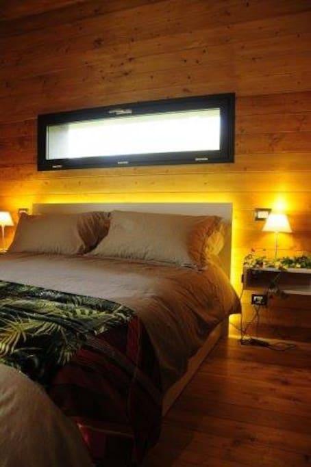 la stanza da letto, intima e romantica