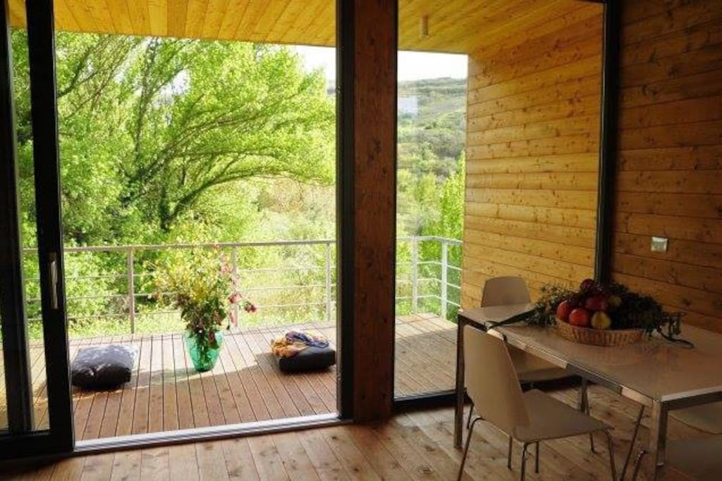 living room e terrazzo con vista bellissima