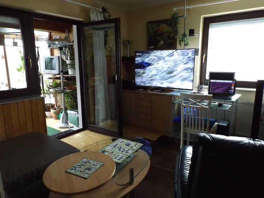 Wohnzimmer, mit Fernseher