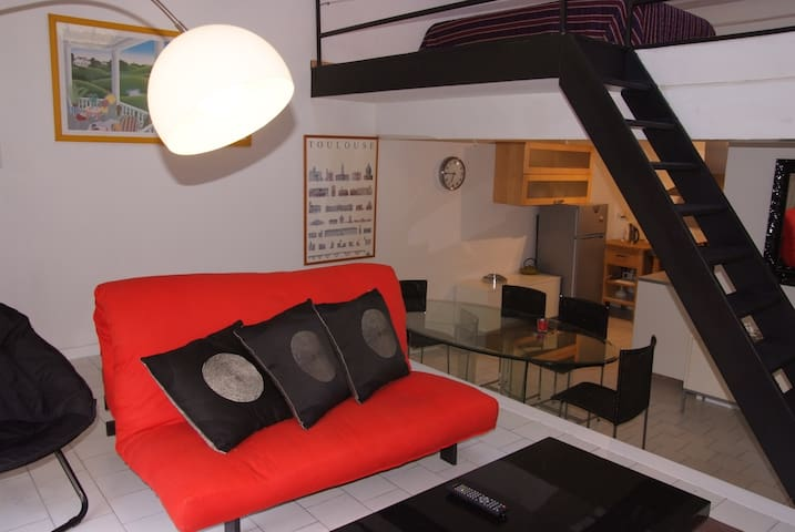 Loft hyper centre garage priv apartments for rent in for Etagere modulable garage toulouse
