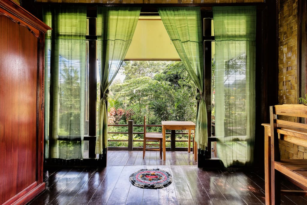 View from inside the bungalow.