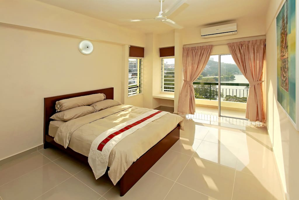 Master bedroom with unobstructed seaview