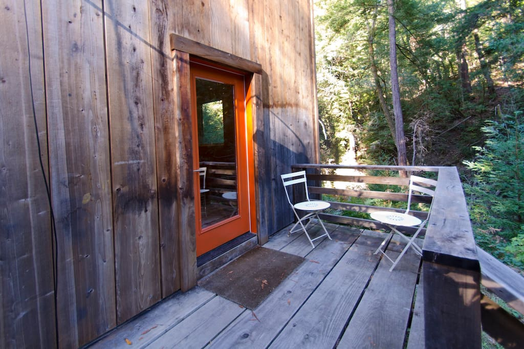 Separate entrance including a secluded private deck.