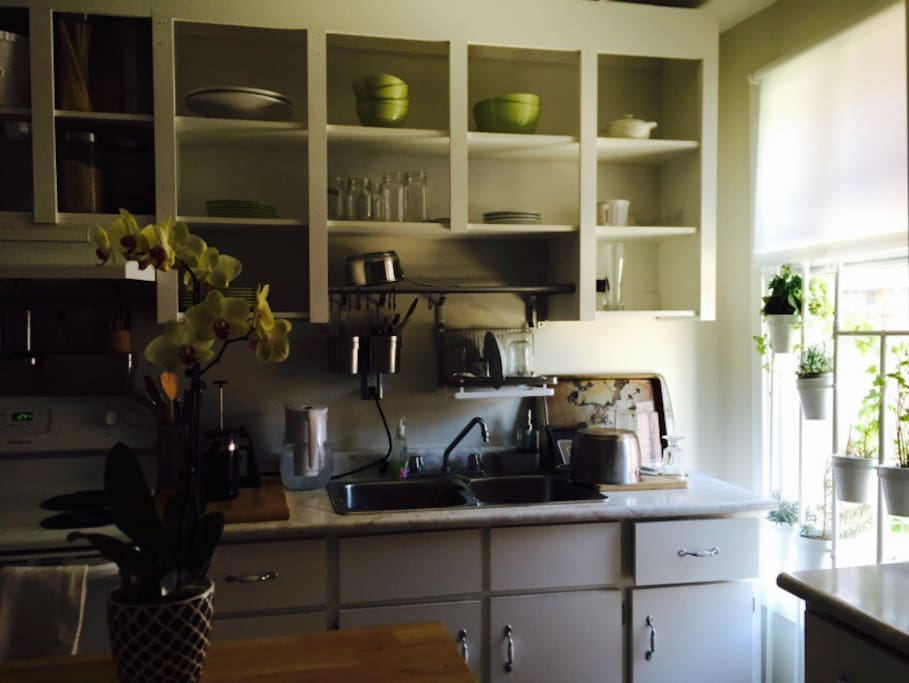 Large, well lit kitchen