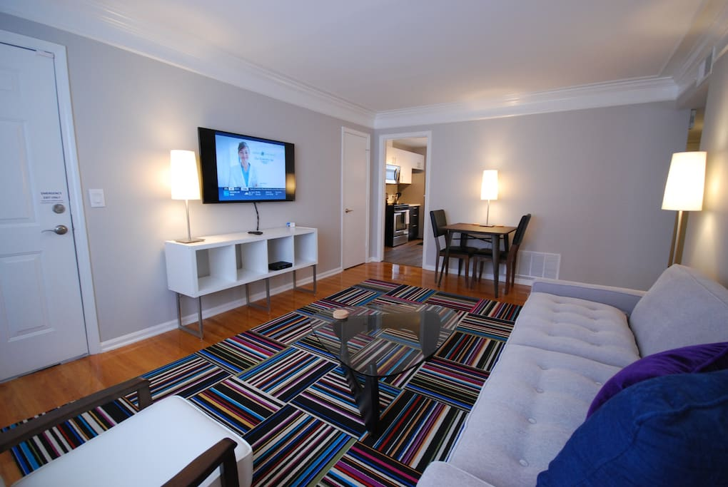 Stylish Living Room with 50-inch LED TV