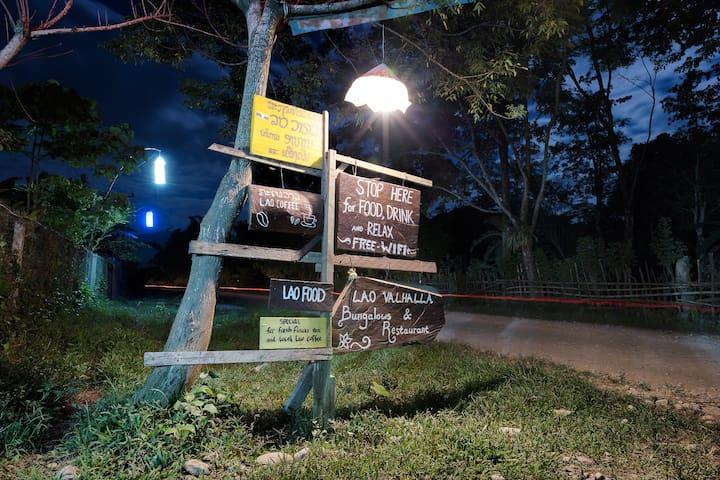 Lao Valhalla Bungalows & Restaurant - Vang Vieng - Bungalow