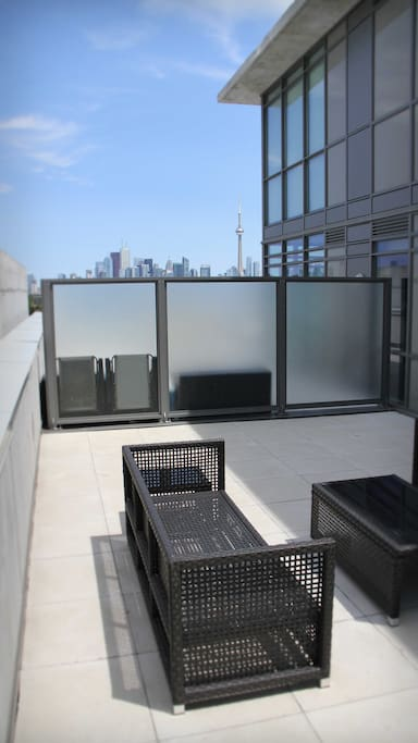 Huge balcony with a great view