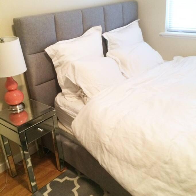Your bedroom (bed is queen sized)