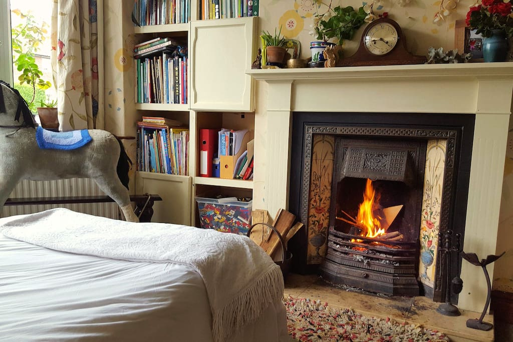 a real fire for cosy evenings