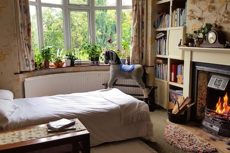 Dble/single sunny room with a real coal fire - York