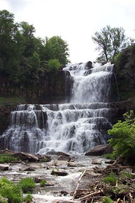 Chittenango Falls (same height as Niagara) is right in the front yard!  Open your windows at night and listen to them.  Walk over and follow path to bottom for great photos.