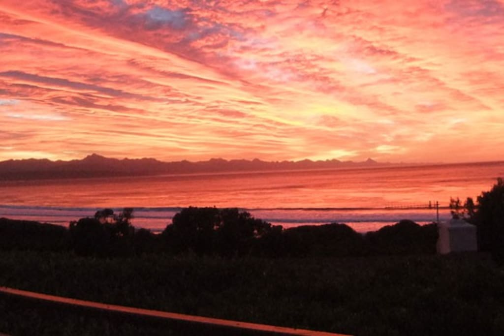 Sunrises that can be seen from the deck