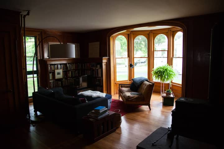 Lovely rooms in a Catskills Village Victorian home