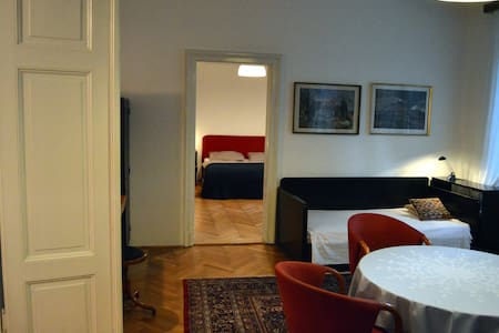 The apartment is in prime location of the centre, next to Ljubljana main theatre and main square. Flat is in one of those old Ljubljana buildings with high ceilings and big windows so it is very bright and spacious.