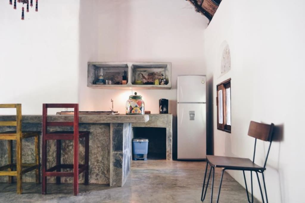 Living and open kitchen