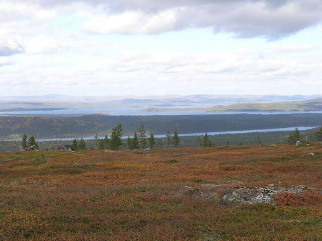 Muddusjärvi seen from the top of Otsamo