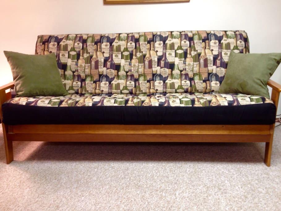 Comfortable futon sleeps 2 more guests