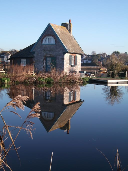 On a still day the canal is like a mirror