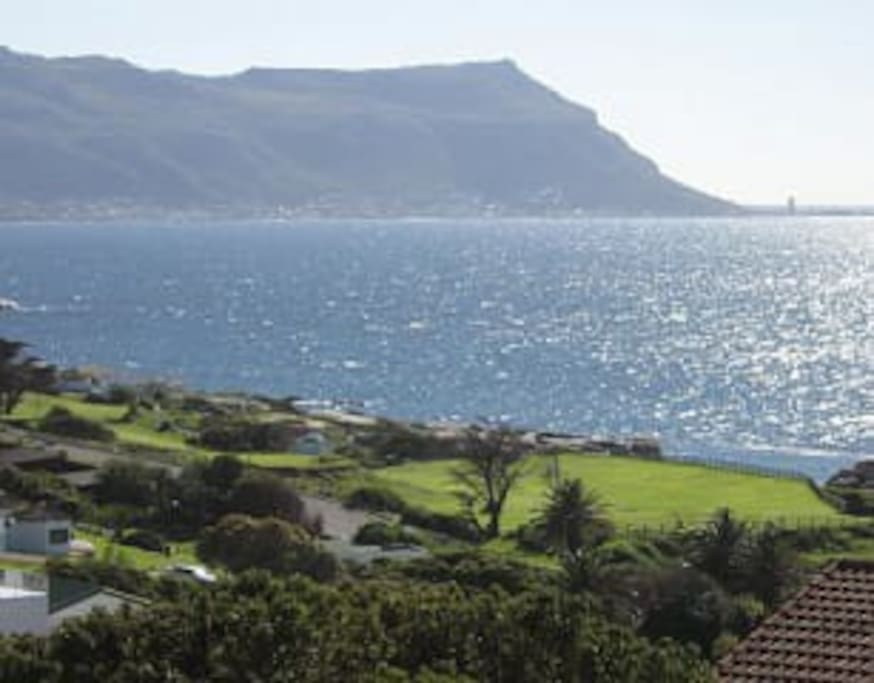 Sea views of False Bay from the Apartment. Simon's Town Golf course in foreground.   .