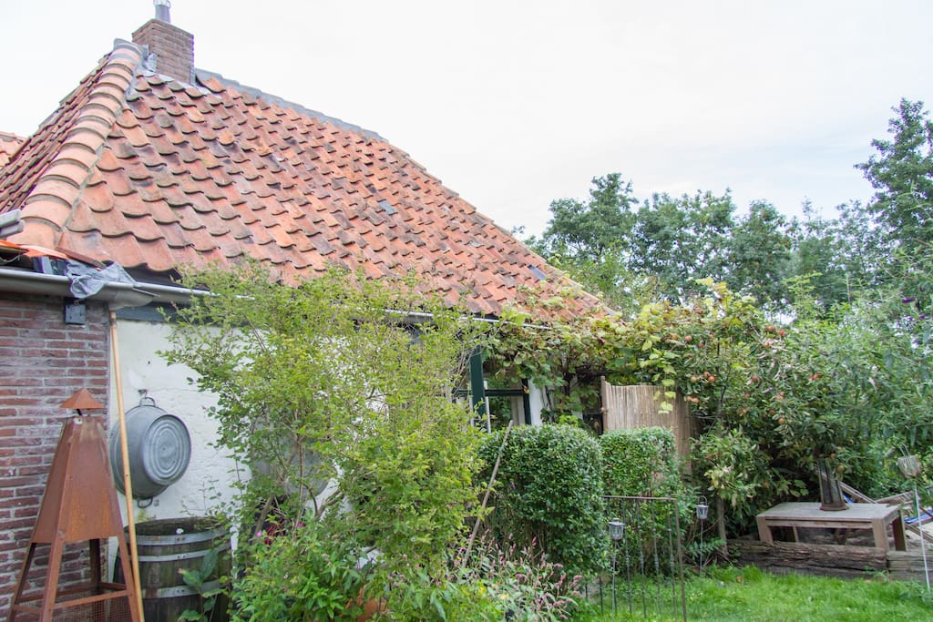 Het atelier achter in de tuin