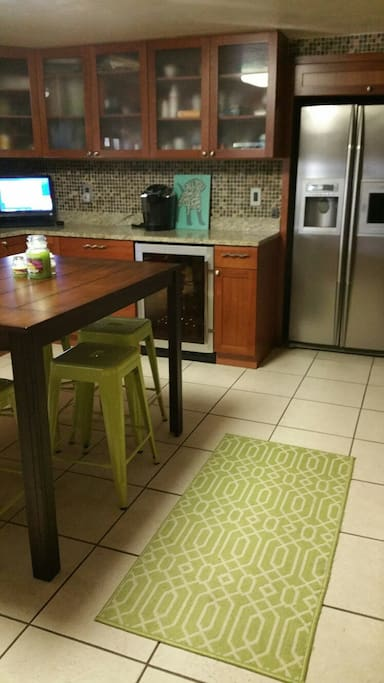 Eat in kitchen with granite counters