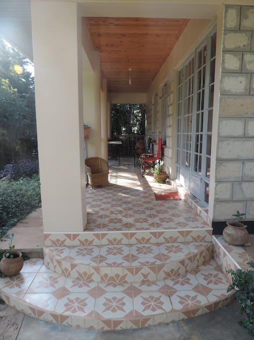 The front porch or veranda