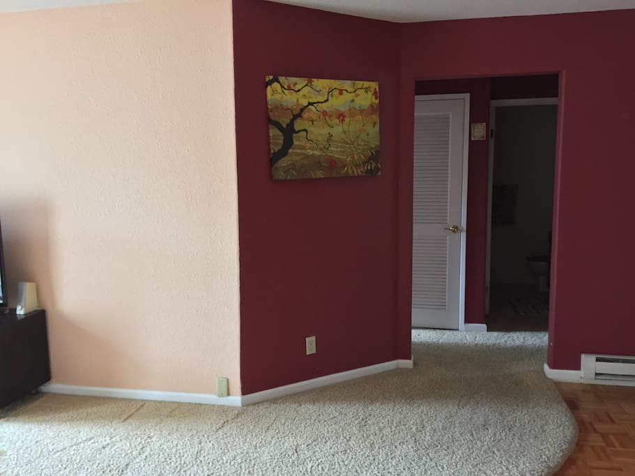 Entry to the two bedrooms