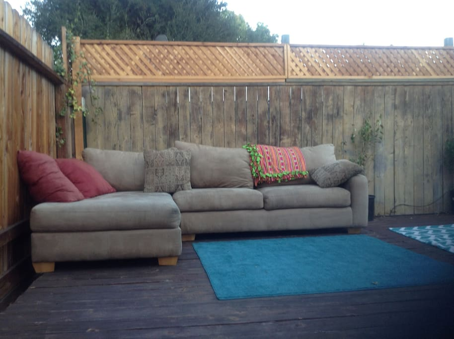 backyard deck. Good for star gazing!