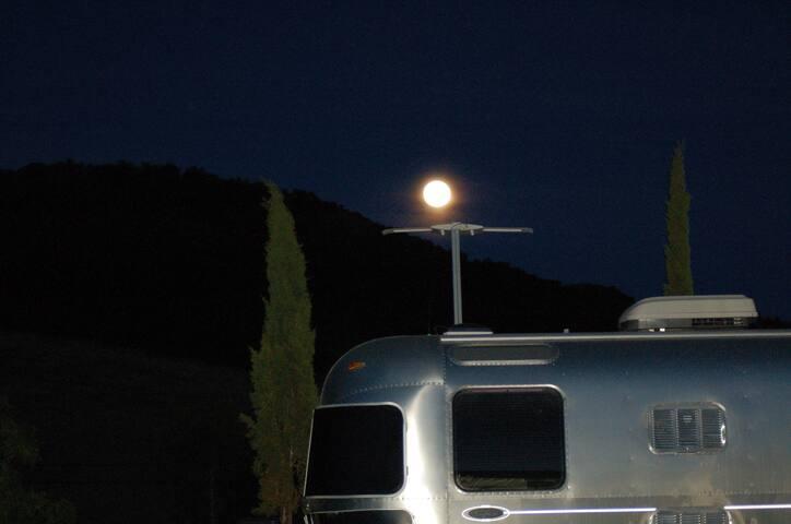 Full moon over...