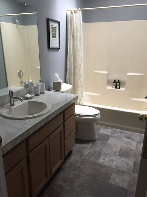 Private full guest bathroom