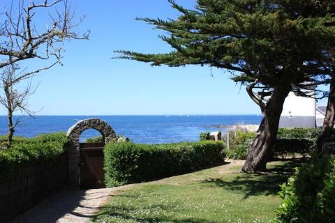 La vue sur la mer depuis le jardin