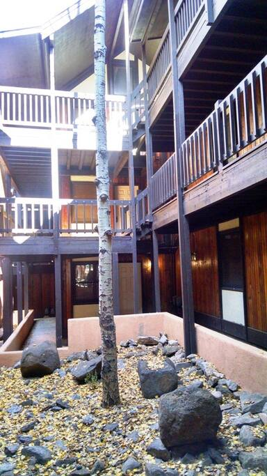 Courtyard inside Snowfire B Building