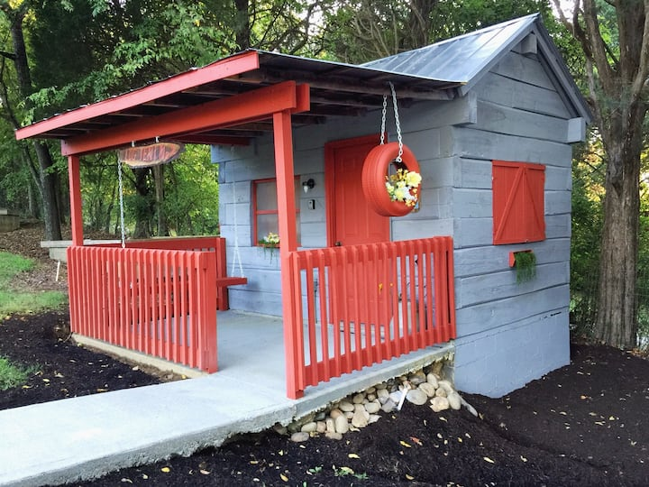 Antique Log Tent Cabin #2