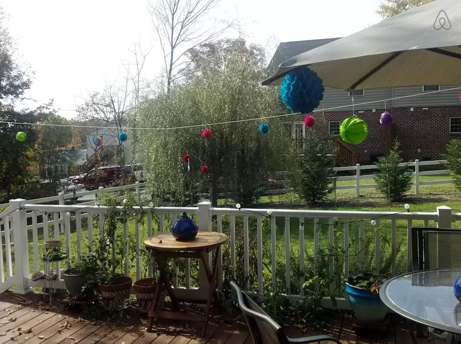 Another shot of the backyard deck ready for some fun!