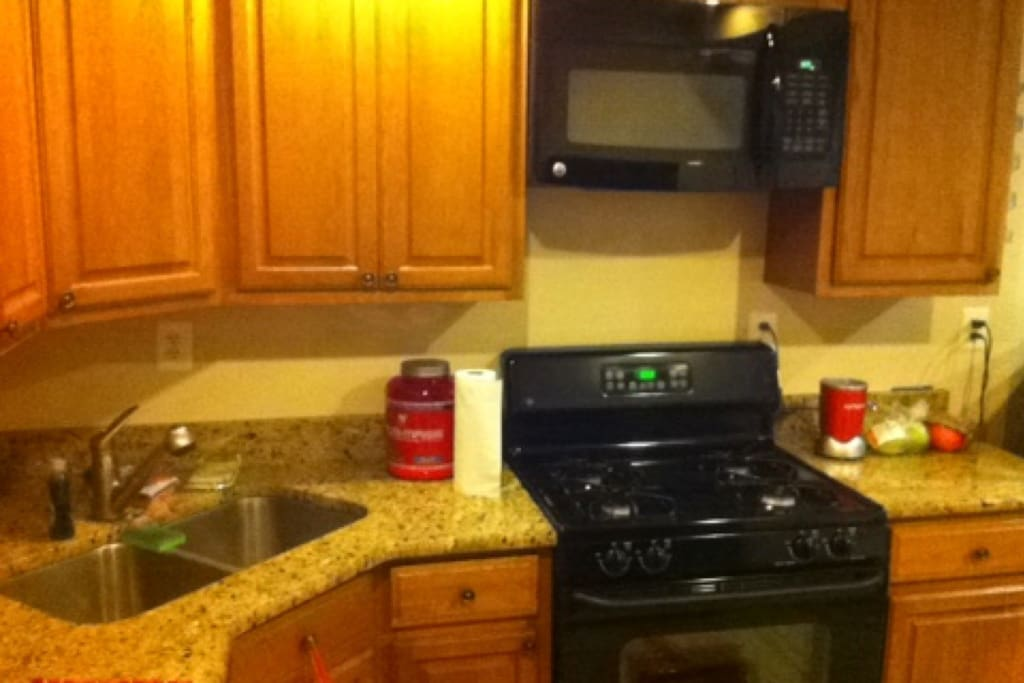 Brand new countertops and appliances