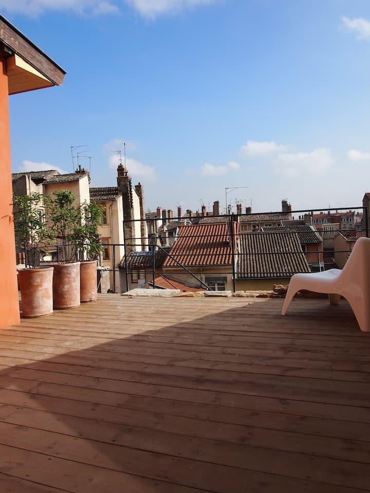Private terrace of Vieux Lyon