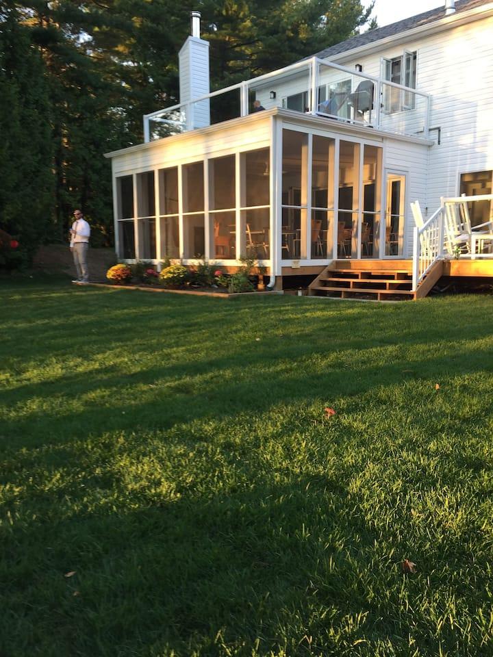 WEDDING / retreat:   luxury lakefront compound