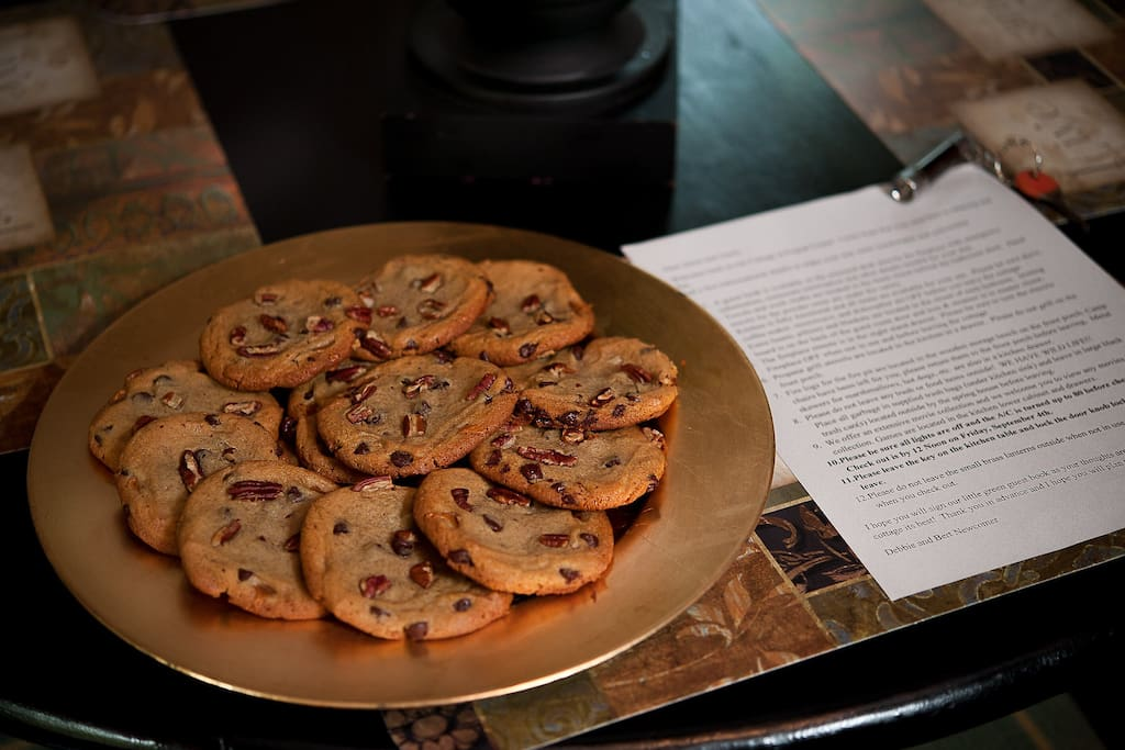 Fresh baked cookies and information letter welcome you! ;)