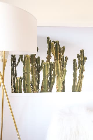 Cacti print by Wilder California in the Master Bedroom
