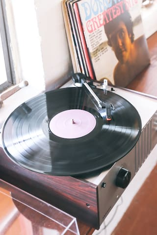 Enjoy listening to a few records in the Living Room